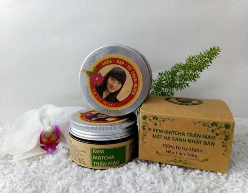 kem mặt nạ matcha ô long Trần Mao