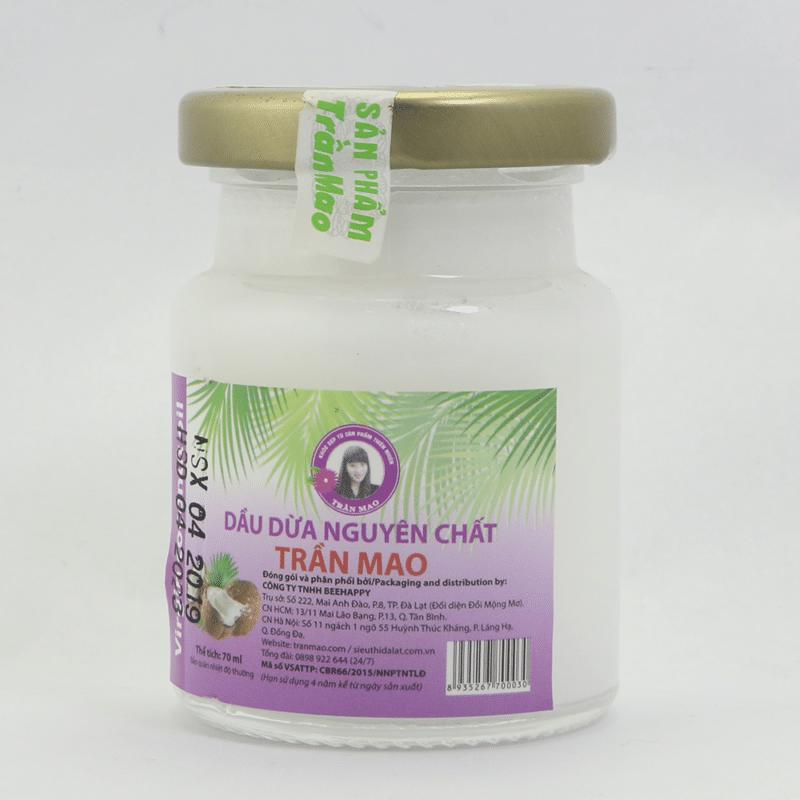 Dầu dừa ép lạnh Trần Mao nước tẩy trang chiết xuất từ thiên nhiên