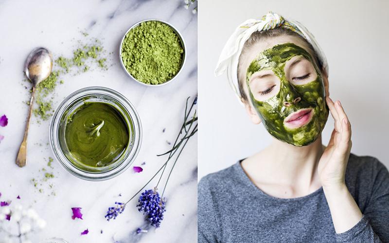 công dụng đắp mặt bằng bột trà xanh