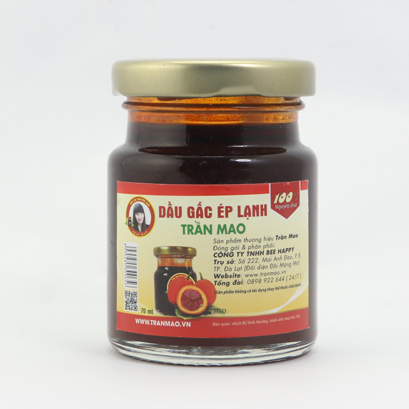 Chăm sóc da với dầu gấc lạnh Trần Mao