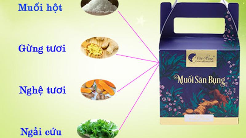 Các thành phần muối tan mỡ bụng slim