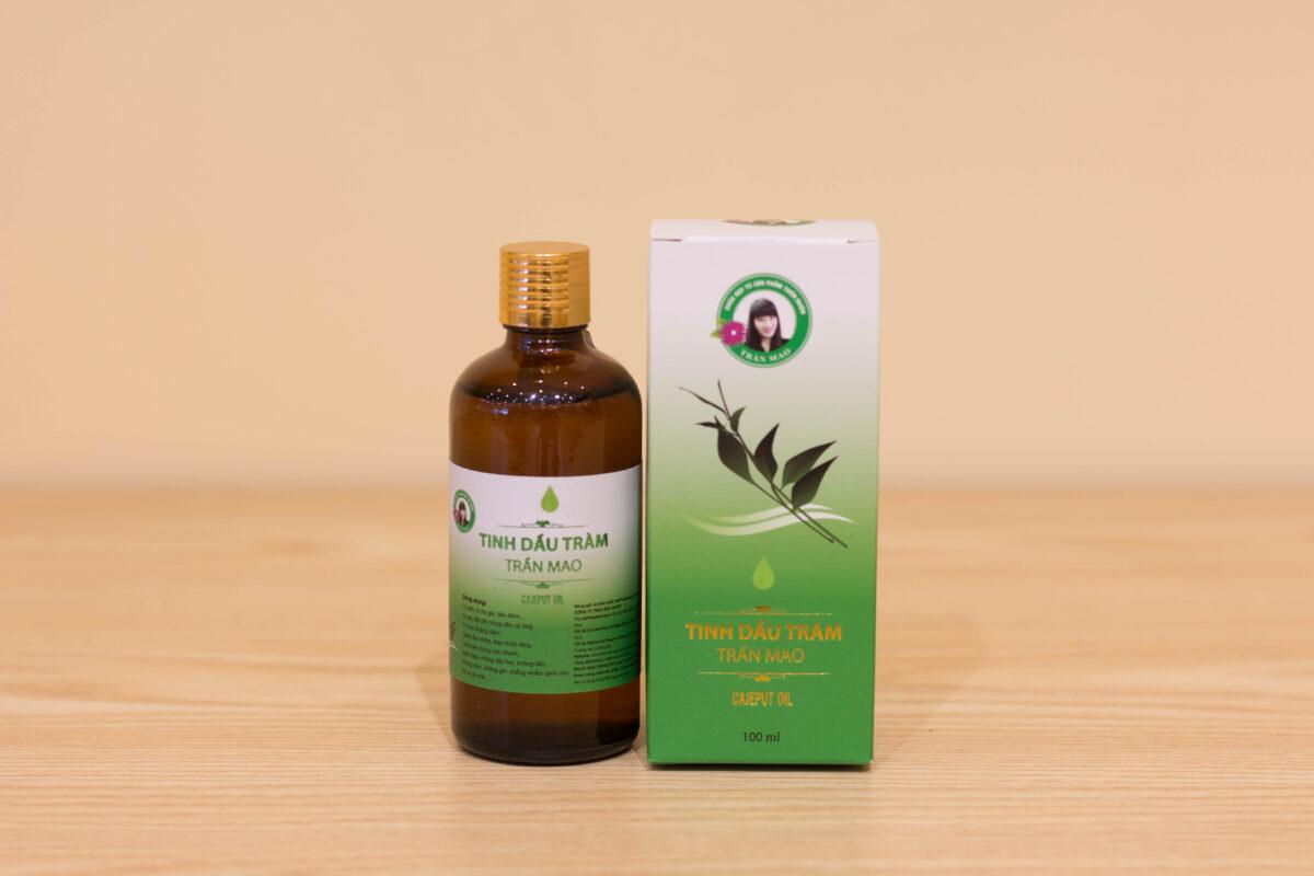Tinh dầu Tràm Trần Mao 100% nguyên chất, đảm bảo an toàn người sử dụng.