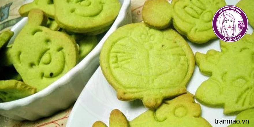 Làm bánh cookie trà xanh với nhiều hình thù