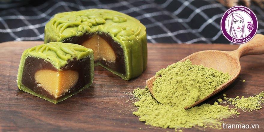Bánh trung thu matcha trà xanh