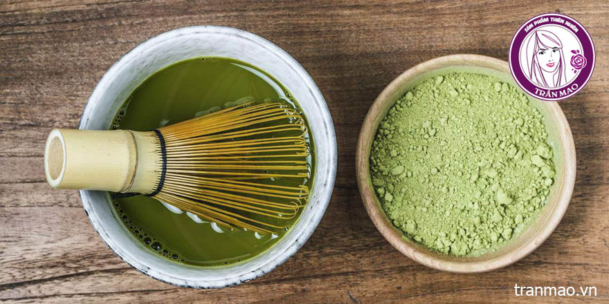 Bột trà xanh đắp mặt nguyên chất