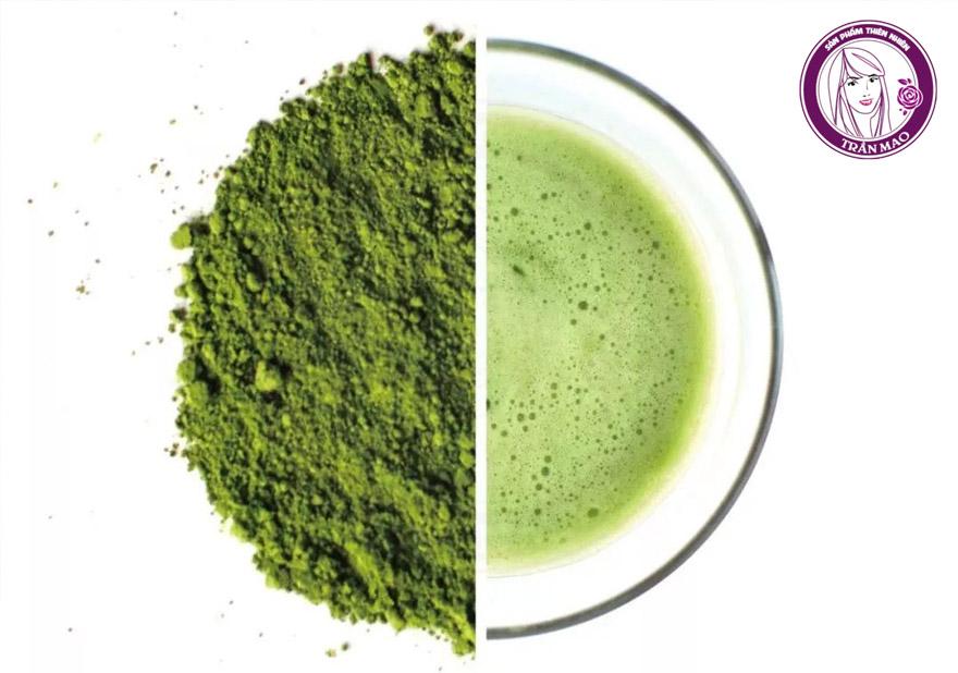 Bột trà xanh nguyên chất đắp mặt