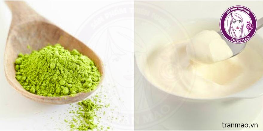 bột trà xanh có tác dụng gì khi kết hợp sữa chua