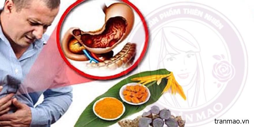 Tinh bột nghệ đen trị đau dạ dày